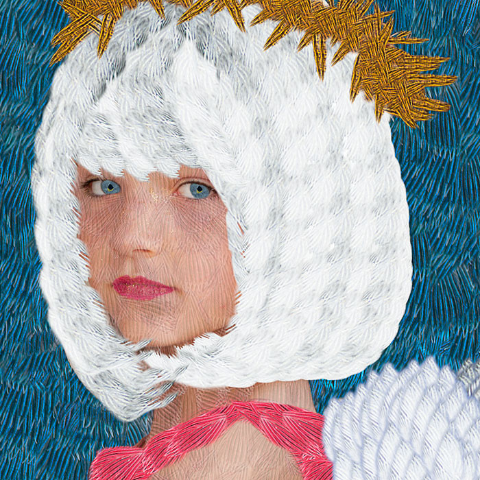 Detail, Lucy as Angel with Wig