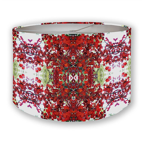 Red Leaves Drum Lampshade