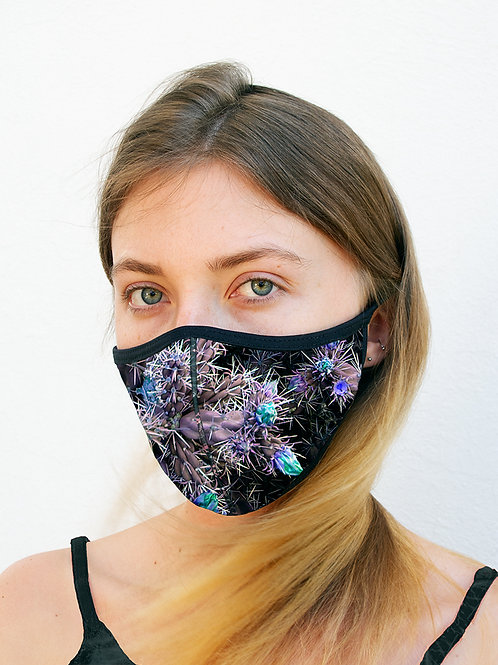 Lavender Cacti Sports Style Face Mask