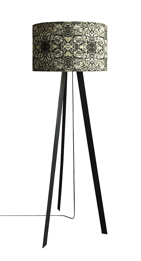 New design: sleek metal floor lamp with shade