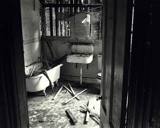 Burned House, Magazine Street, Cambridge, Massachusetts