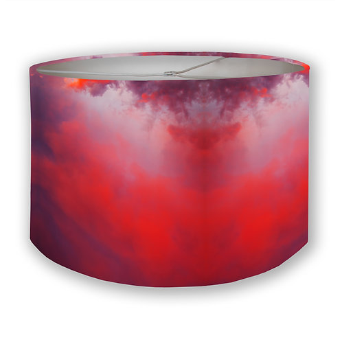 Red Sky Drum Lampshade