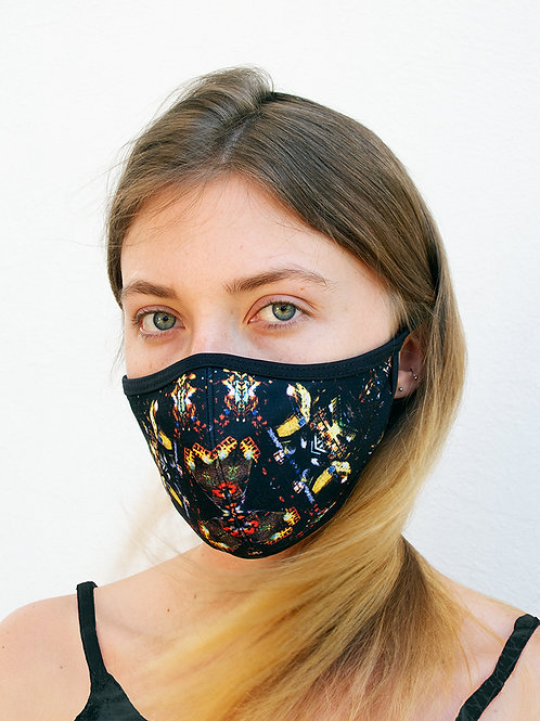 CDMX Night Kaleidoscope Sports Style Face Mask