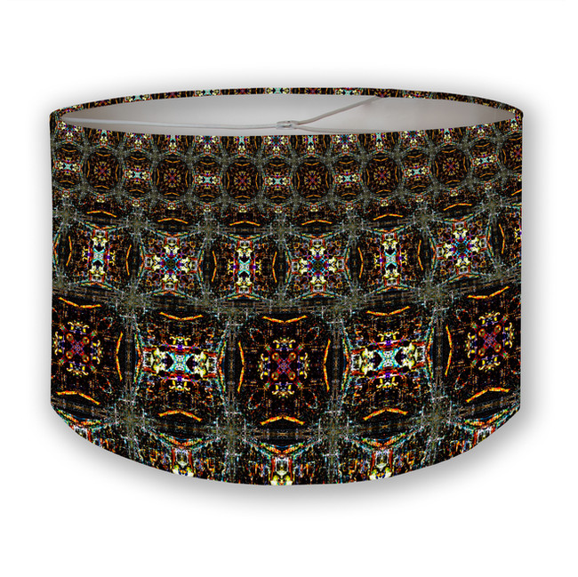 CDMX Night Kaleidoscope Drum Lampshade