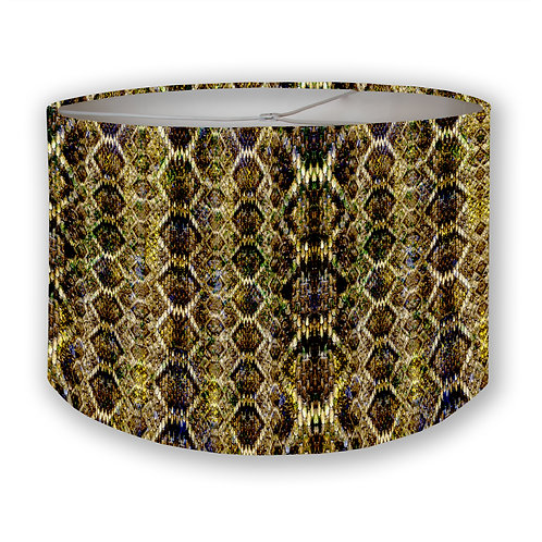 Gilded Scales Drum Lampshade