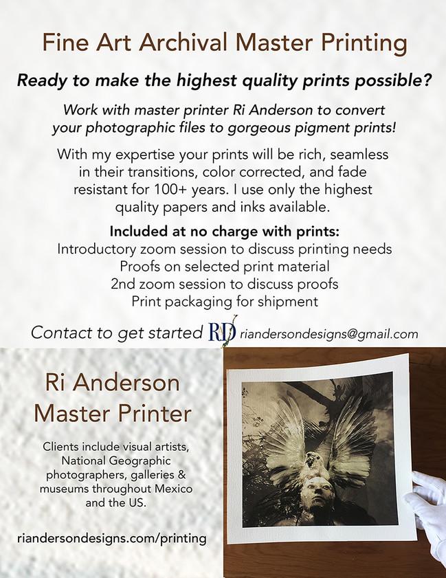Fine Art Printing Services