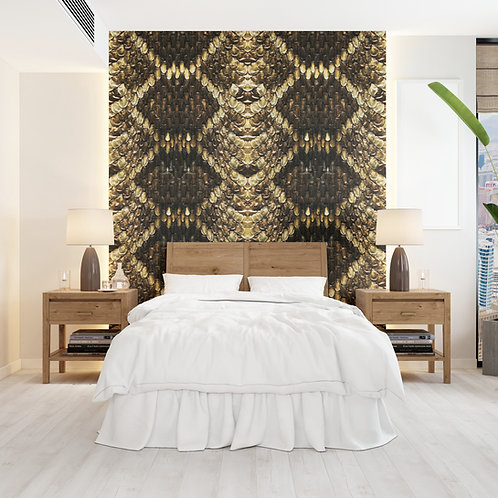 Burnished Scales Wall Covering