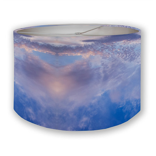 Blue Sky 2 Drum Lampshade