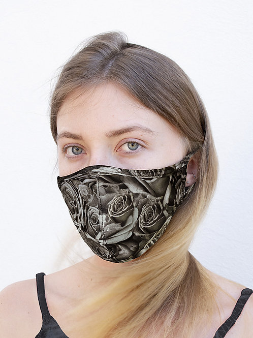 Sepia Roses Sports Style Face Mask