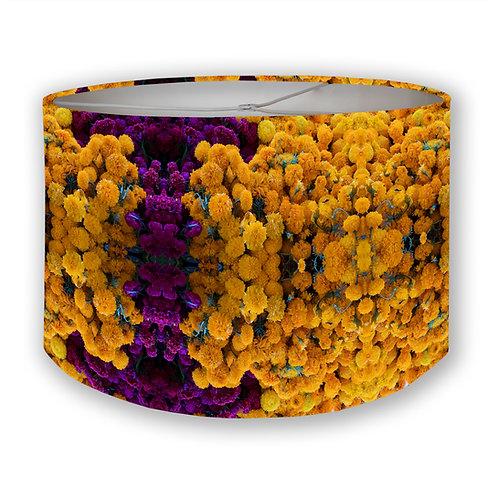 DoD Flowers: Marigolds & Coxcombs Drum Lampshade