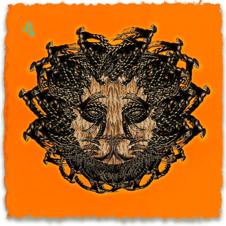 Leo, Orange Background