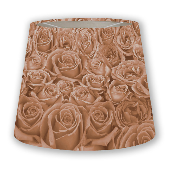 Salmon Toned Roses Cone Lampshade