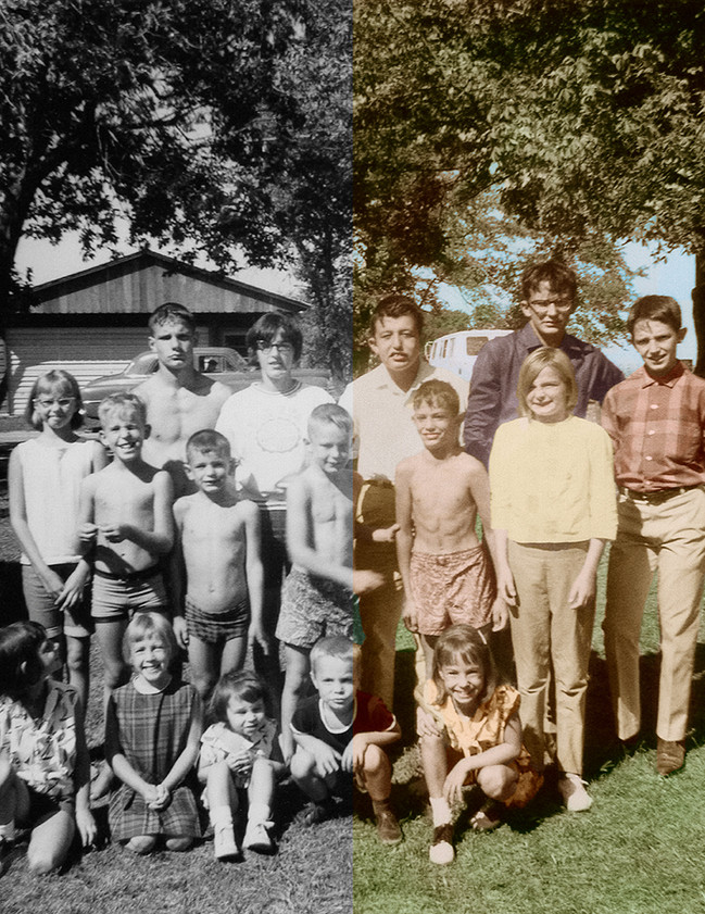 Restored family photo