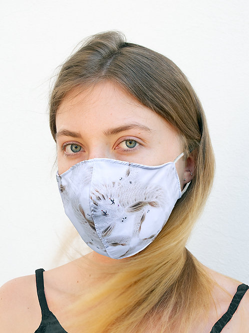 Blonde Dove Silky Waterproof Style Face Mask