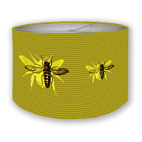 Yellow Bees Drum Lampshade
