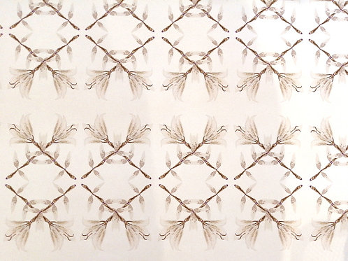 White Braids Display Model Wallcovering