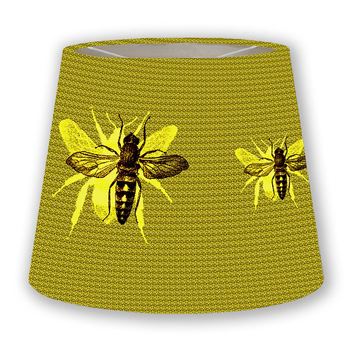 Yellow Bees Cone Lampshade