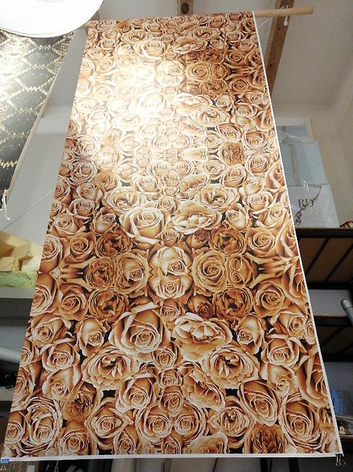 Salmon Toned Roses Display Model Wallcovering