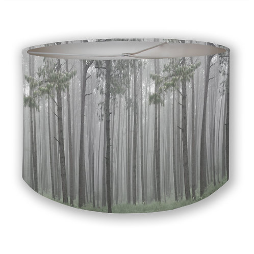 Foggy Forest Drum Lampshade