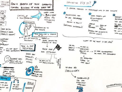 Sketchnote - Tristan Harris TED Talk