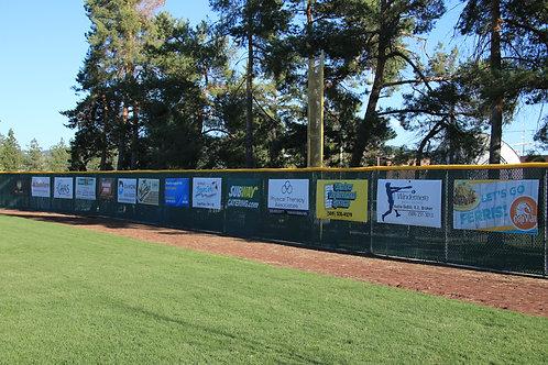 Baseball HR Fence Banner New 2-Year