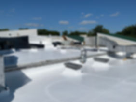 Spray Foam System over EPDM Rubber Roof