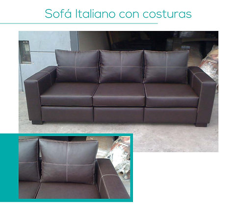 Sofá Italiano c/ costuras