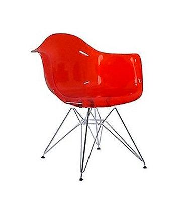 Sillon Eames Acrílico Rojo