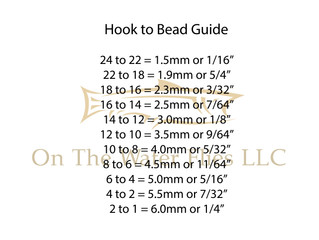 Bead To Hook Guide