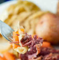 Apple and Brown Sugar Corned Beef-Freezer Meal Friday