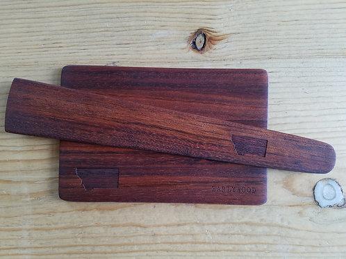 Earlywood Mini-Cutting Board with Small Flat Saute