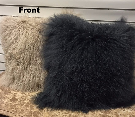 "Furry Lamb Pillows - 10""x20"""