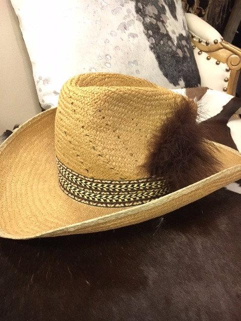 Vintage Eddy Bros Straw Hat
