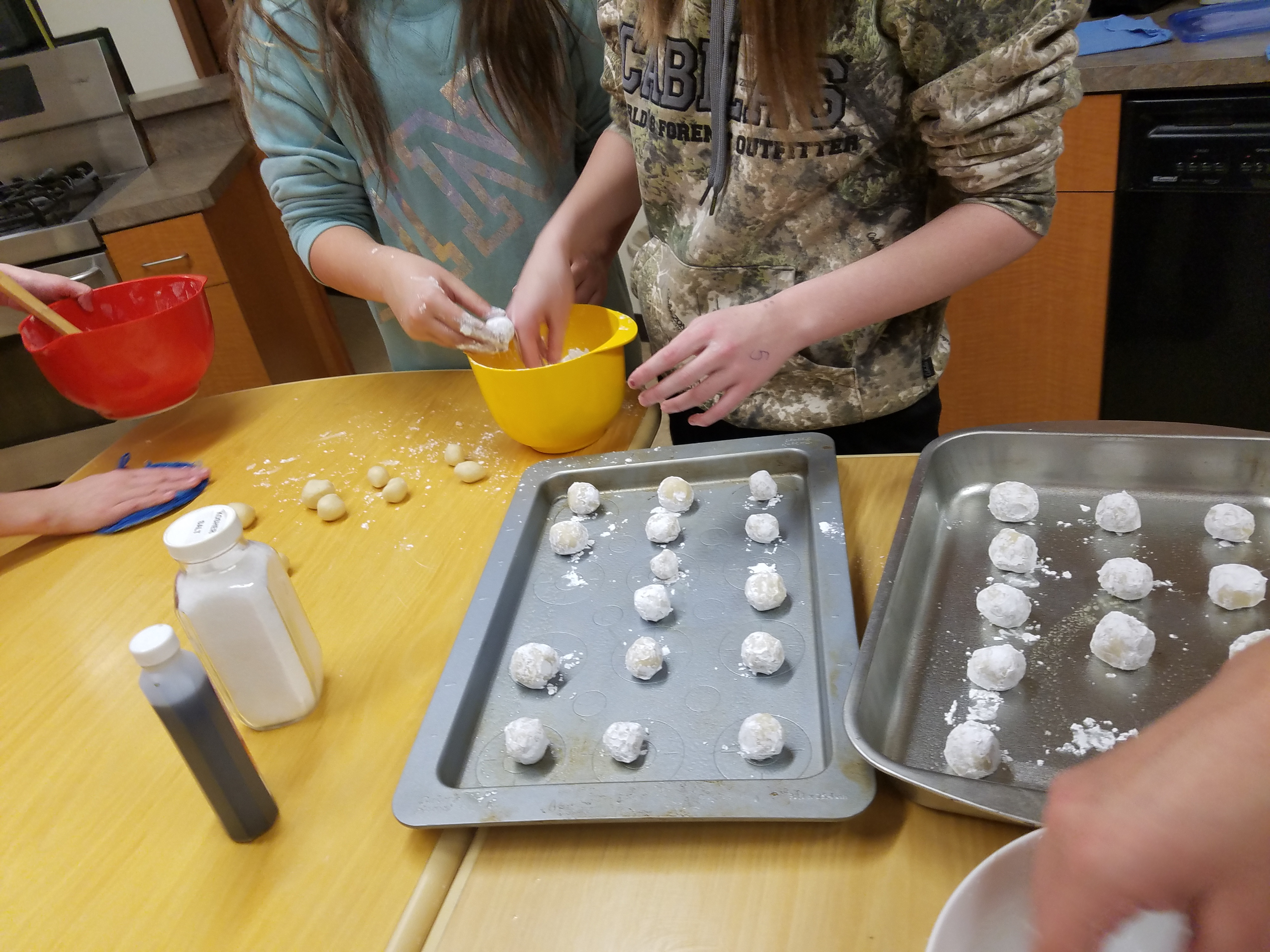 Snowballs cooking with kids