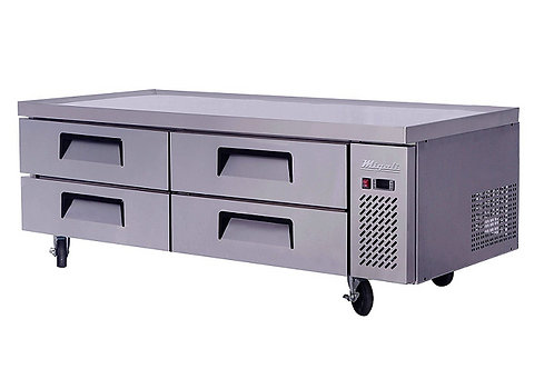 """Migali 72"""" Refrigerated Chef Base With 76"""" Extended Top C-CB72-76-HC"""
