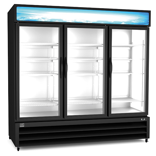 Kelvinator Three Door Reach-In Freezer Merchandiser 72 CU. FT. KCHGM72F