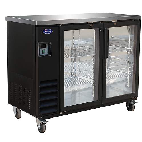 Valpro 49″ Two glass Swing Door Back Bar Cooler VP48G
