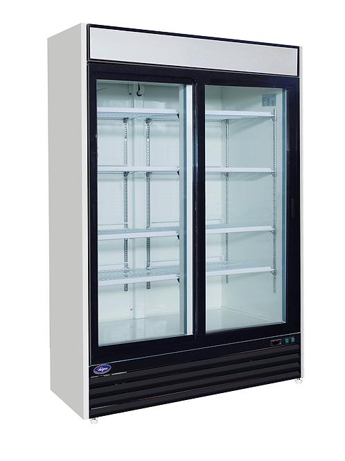 Valpro Two Sliding Glass Door Merchandiser Refrigerator 48 CU. FT. VP2R-48L