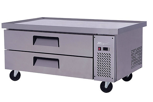 """Migali 52"""" Refrigerated Chef Base With 60"""" Extended Top C-CB52-60-HC"""