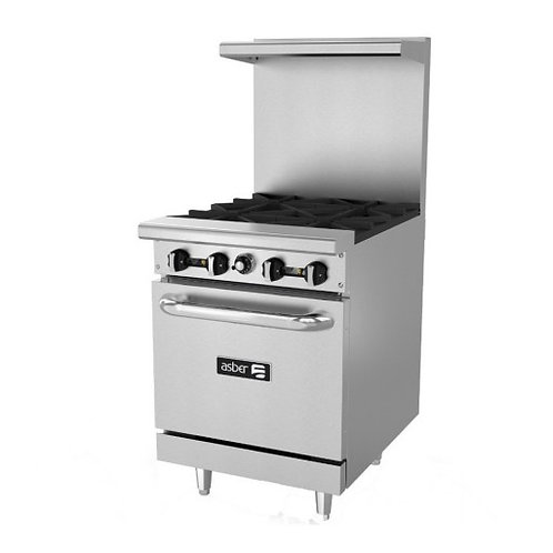 "Asber 24"" 4 burner range with oven AER-4-24"