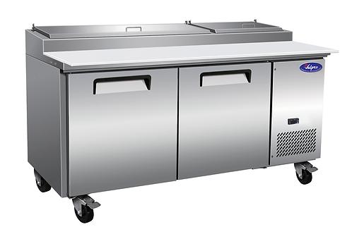 "ValPro 71"" Two Door Pizza Prep Table Refrigerator VPP71-HC"