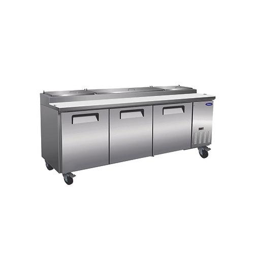 "Valpro 71"" Two Door Pizza Prep Table Refrigerator VPP94-HC"