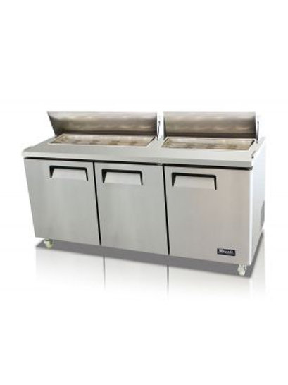 "Migali 72"" Sandwich Prep Table C-SP72-18"