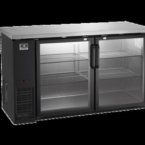 "Kelvinator 60"" Glass Door Back Bar Refrigerator KCBB60GB-HC"