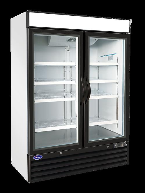 Valpro Two Swing Glass Door Merchandiser Refrigerator 48 CU. FT. VP2R-48