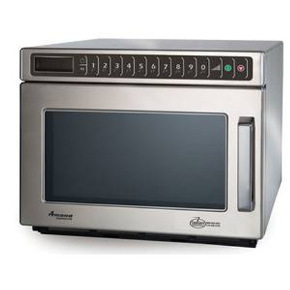 Amana HDC12A2 Heavy Duty Stainless Steel Commercial Microwave - 120V, 1200W