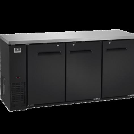 """Kelvinator 72"""" Solid Door Back Bar Refrigerator KCBB72SB-HC"""