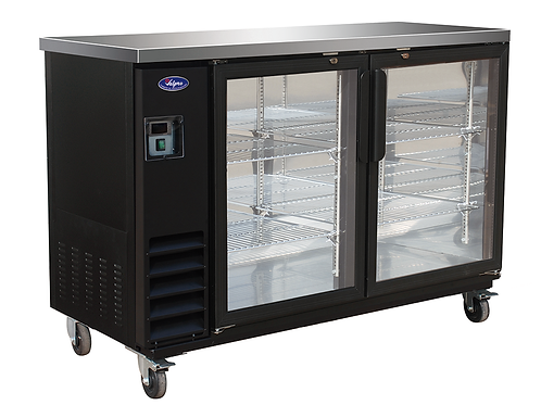 Valpro 61″ Two Glass Swing Door Bar Back Cooler VP60G