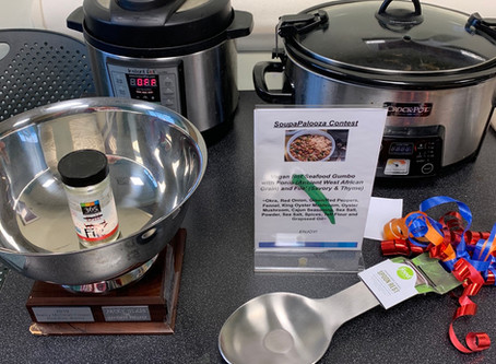 The Not Seafood Gumbo, an original recipe won the Soupapalooza Contest