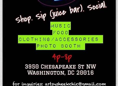 Shop. Sip (juice bar). Social